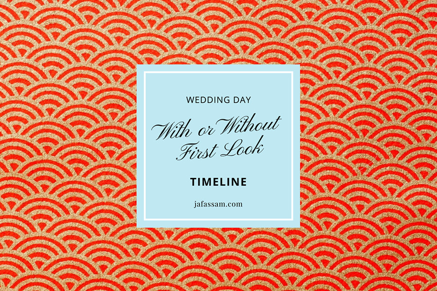 Wedding Day Timeline First Look
