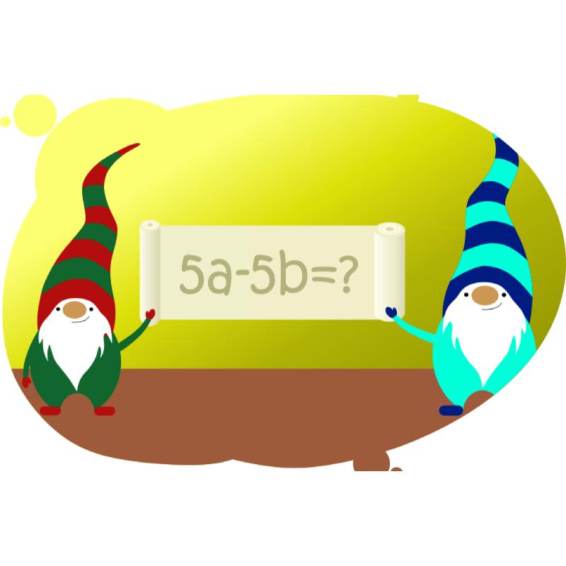 Гномики и пример на разность чисел