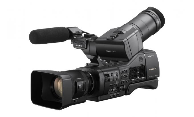 Видеокамера в студии хромакей