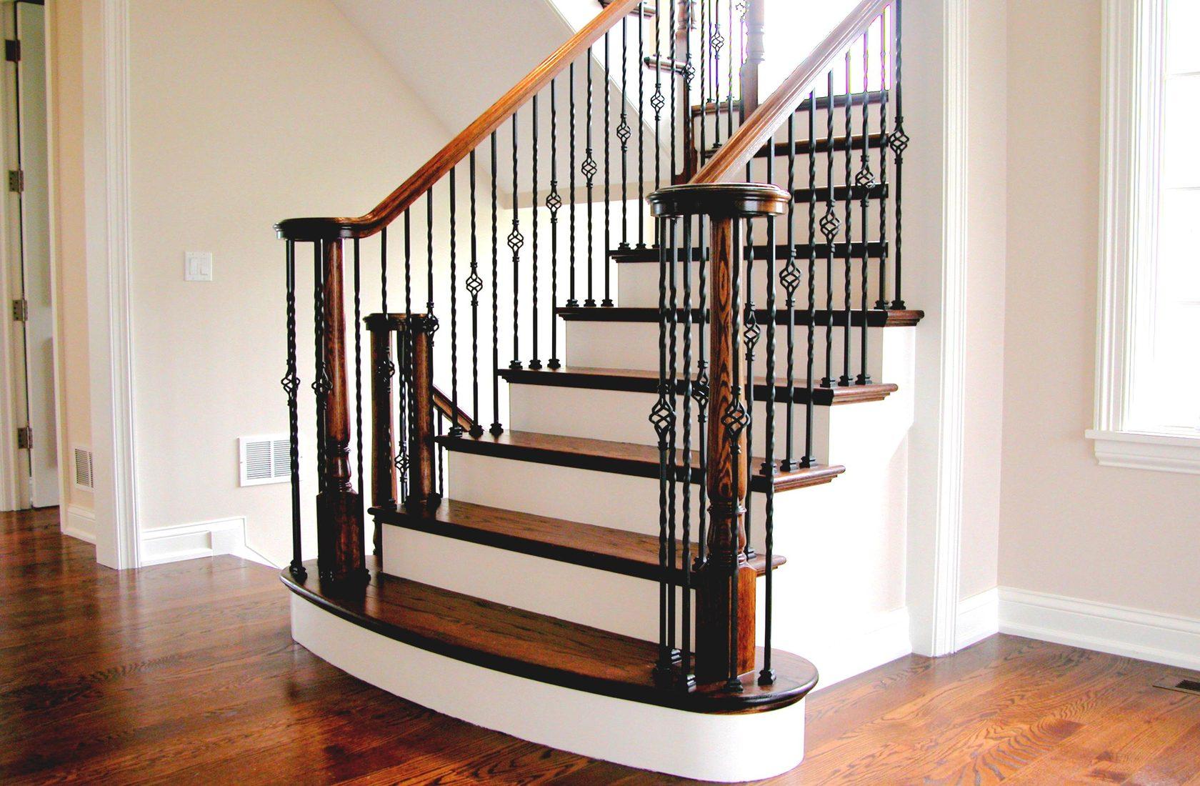 смещением перила для лестниц картинки очень простой