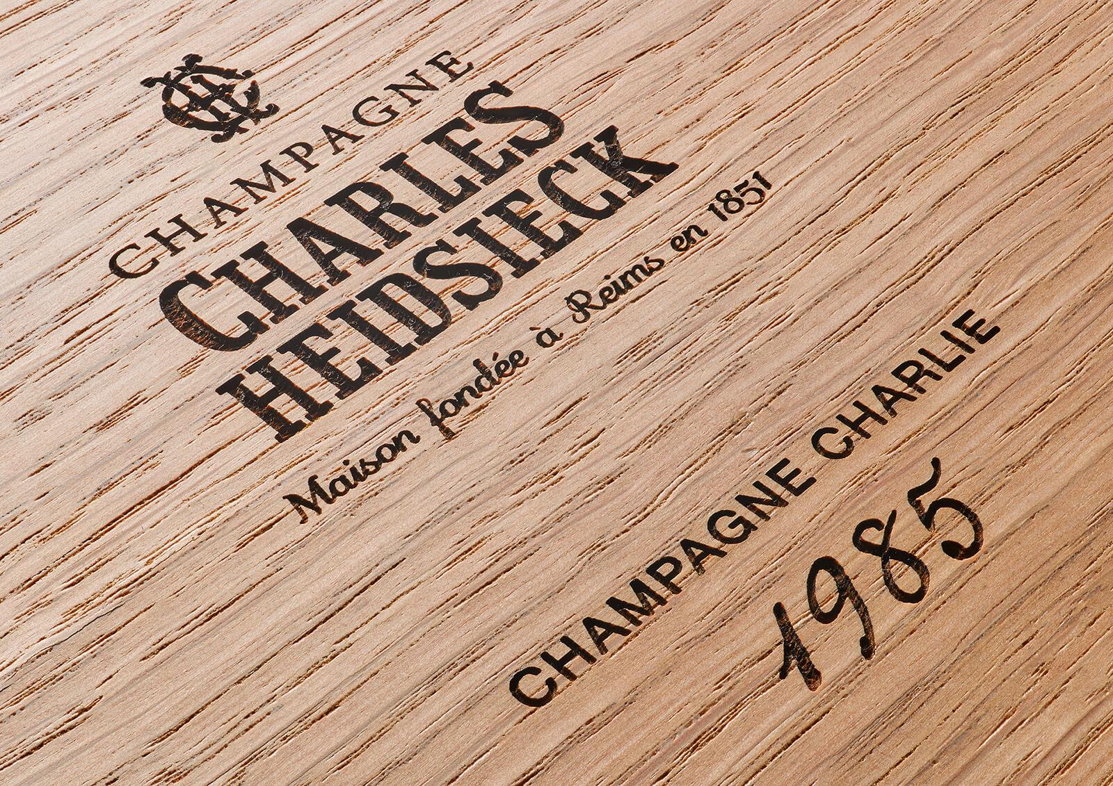 Case Charles Heidsieck Champagne Charlie 1985