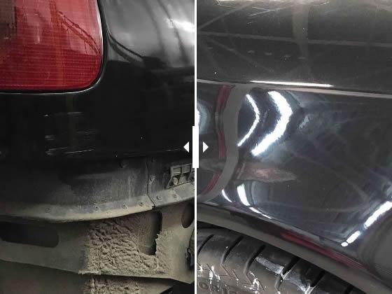 Локальный ремонт и окрашивание заднего крыла ауди