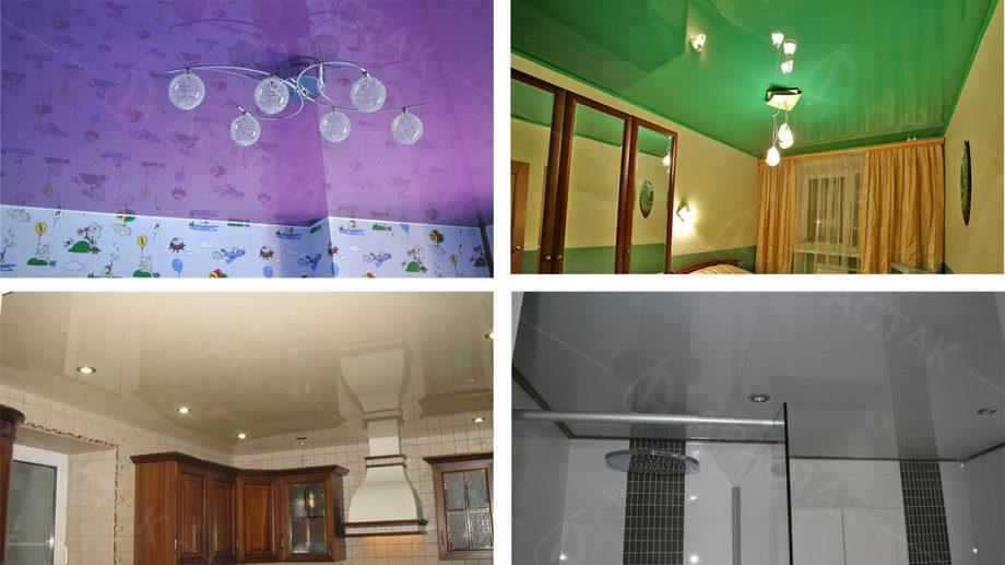 теперь глянцевые натяжные потолки плюсы и минусы фото соединение