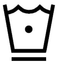 Символ за пране със студена вода до 30 градуса и програма за предотвратяване на намачкването