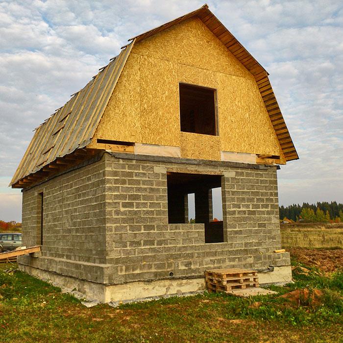дом баня из керамзитобетонных блоков