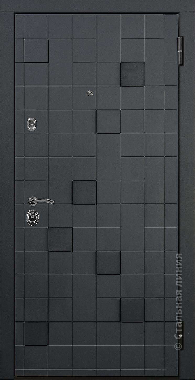 """Внешняя панель входной двери SUN """"Метро"""". Внутренняя панель выполнена одной из панелей моделей Profildoors. Подробнее: http://glav.profildoors-mall.com/steelline"""