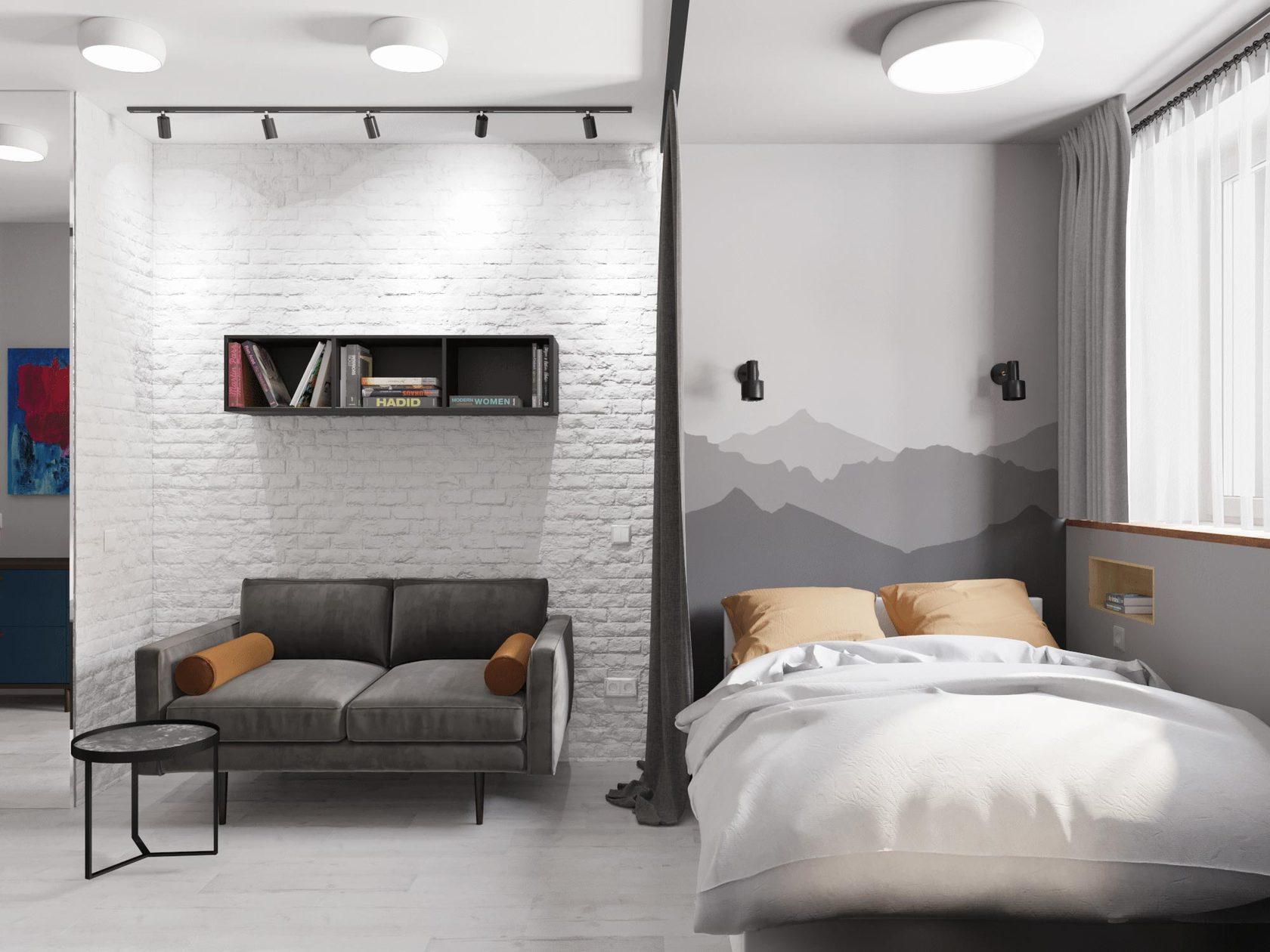 Делать ли дизайн квартиры перед началом ремонта? - Страница 3 Dizayn-odnokomnatnoy