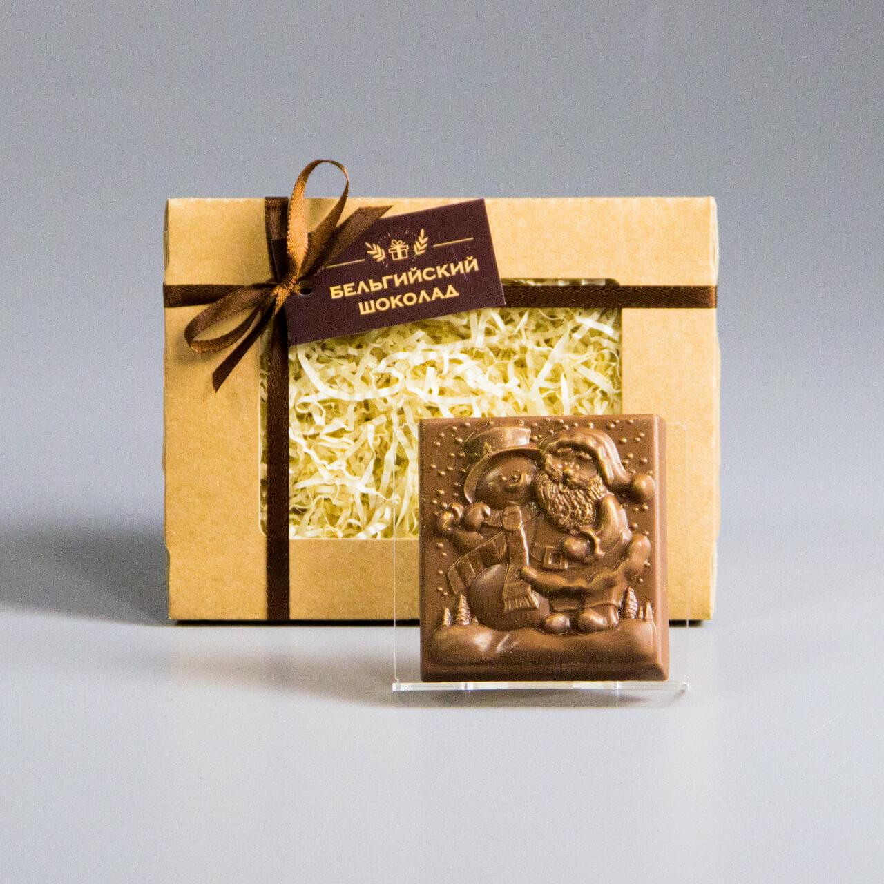 Шоколадная фигурка «Дед Мороз и Снеговик»