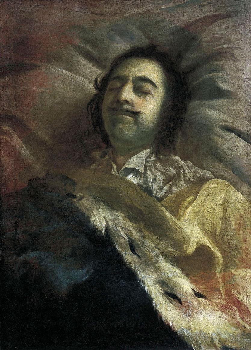 Иван Никитин. «Пётр I на смертном ложе» (1725).
