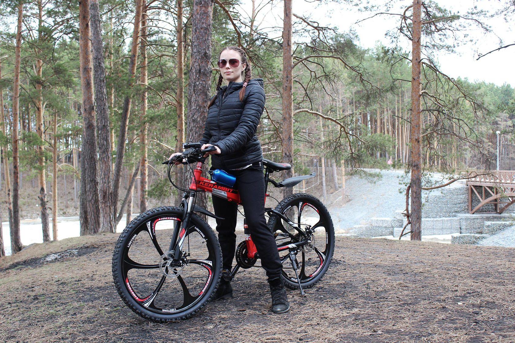 Велосипед на литых дисках складной