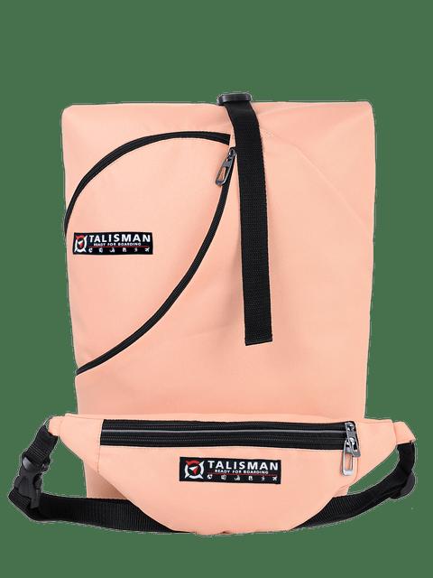 рюкзак, трансформер, купить, украина, производитель, ручная кладь, для перелетов, для туристов, сумка бананка, купить, цвет пудра, розовый
