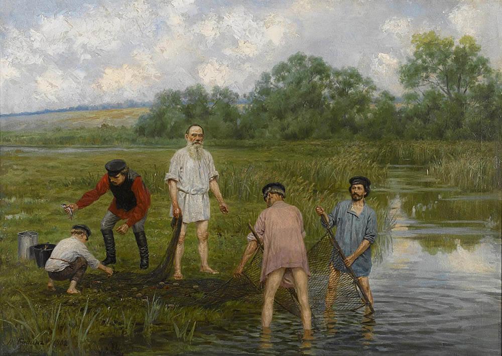 Картина «Рыбная ловля», Наркиз Бунин, 1903 год