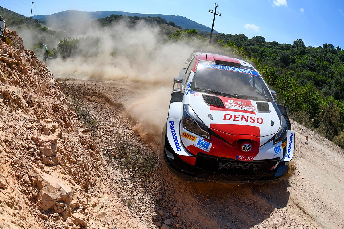 Калле Рованпера и Йонне Халттунен, Toyota Yaris WRC, ралли Сардиния 2021