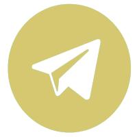 логотип телеграм золотистый