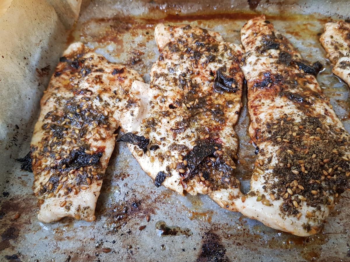 Куриное филе в духовке со специей заатар. Вкусный Израиль.