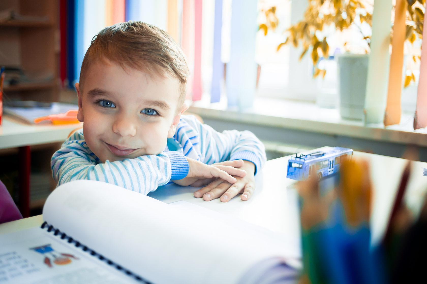 ученик курса развития для детей 4 лет