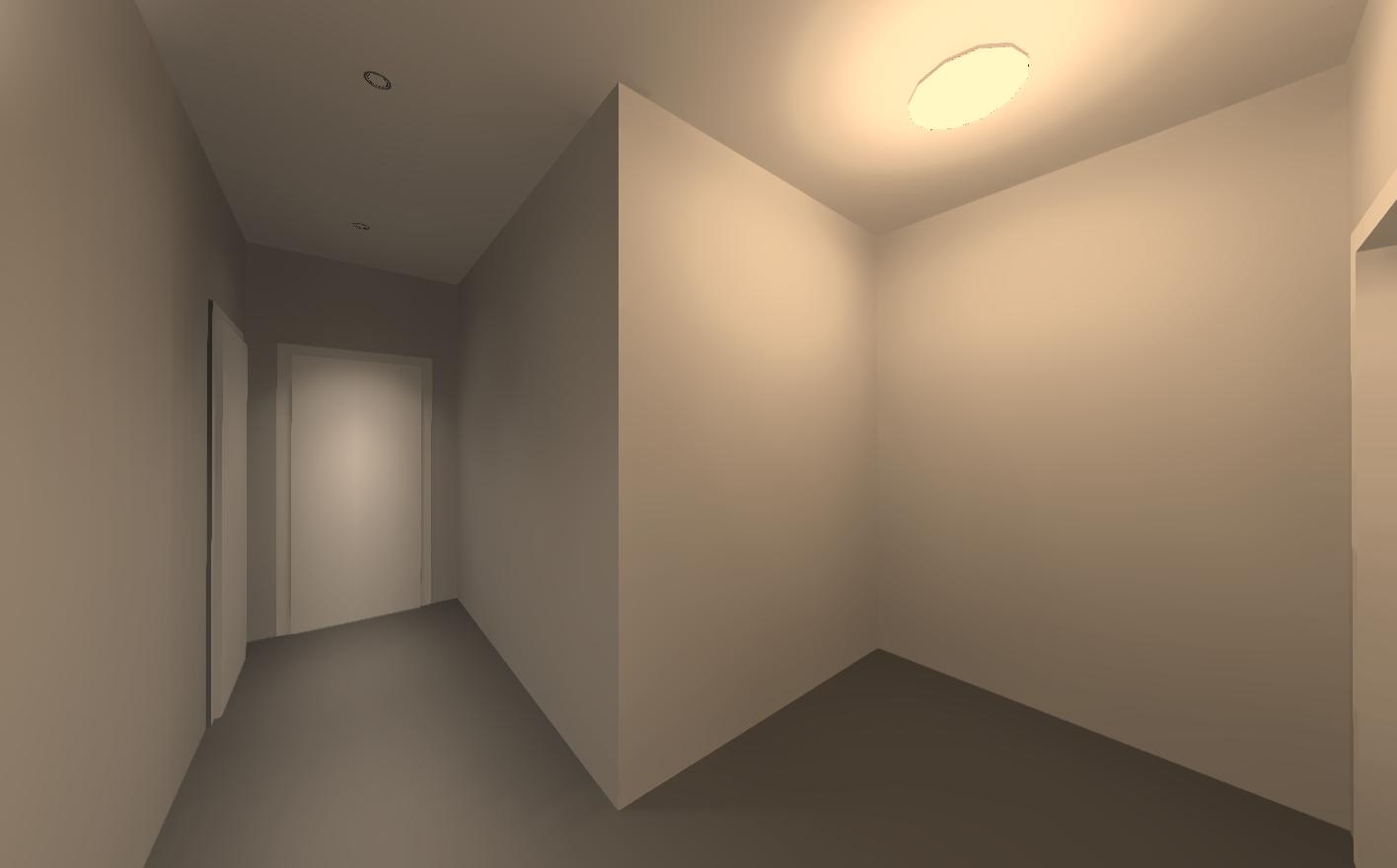 Визуализация освещения. Входная зона