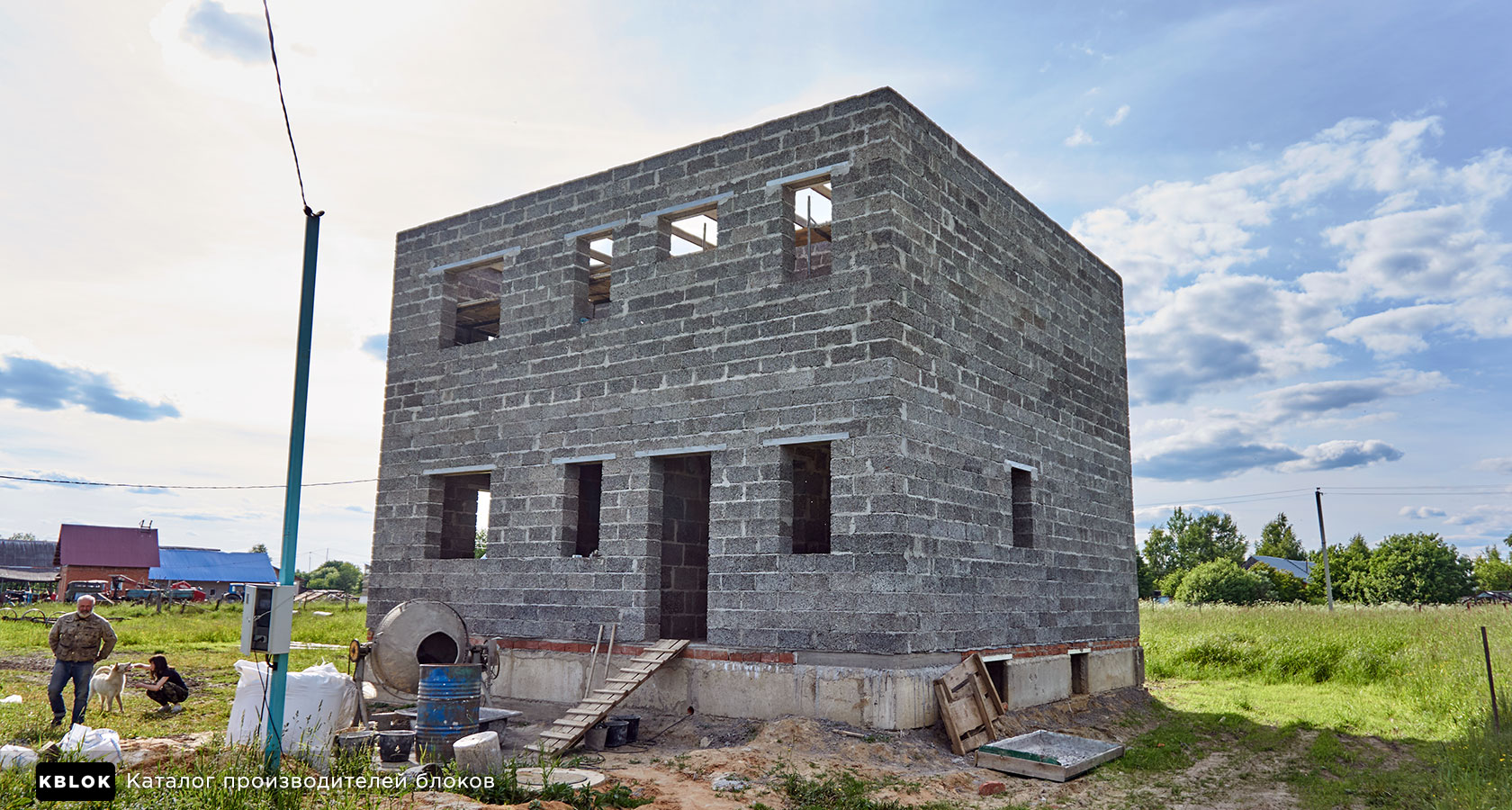 дом из арболита в Сергиево-Посадском районе