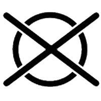 Символ на етикет, който означава че химическото чистене е забранено