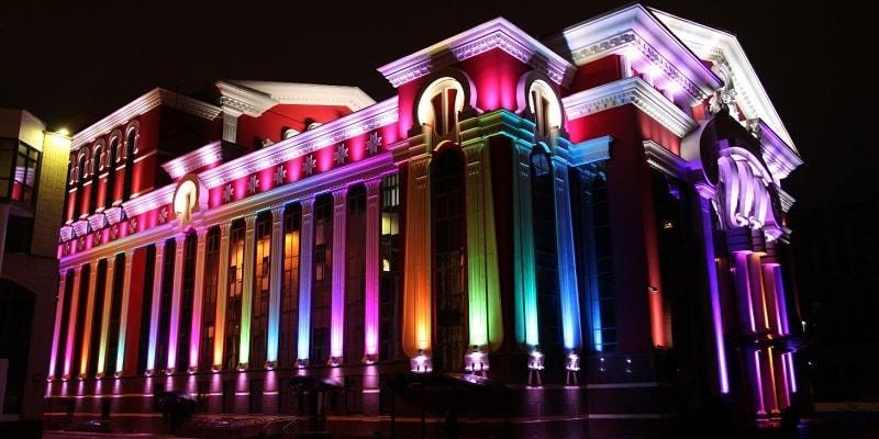 Архитектурное освещение светодиодными светильниками: особенности и ...