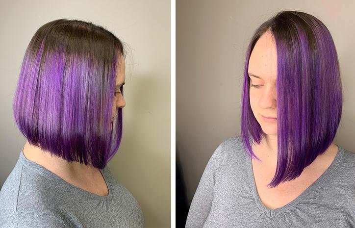 Фиолетовое окрашивание