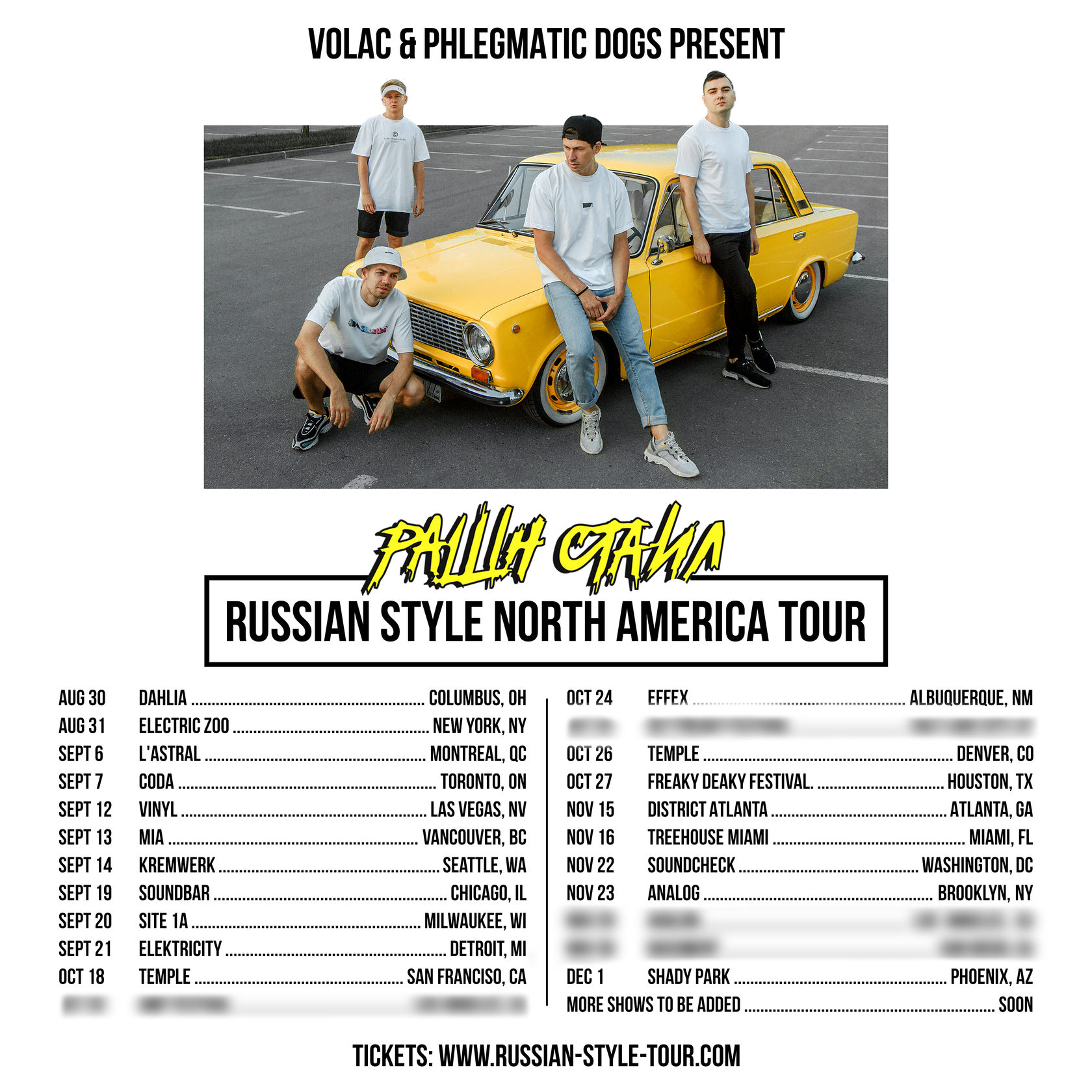 Russian Style Tour Dates