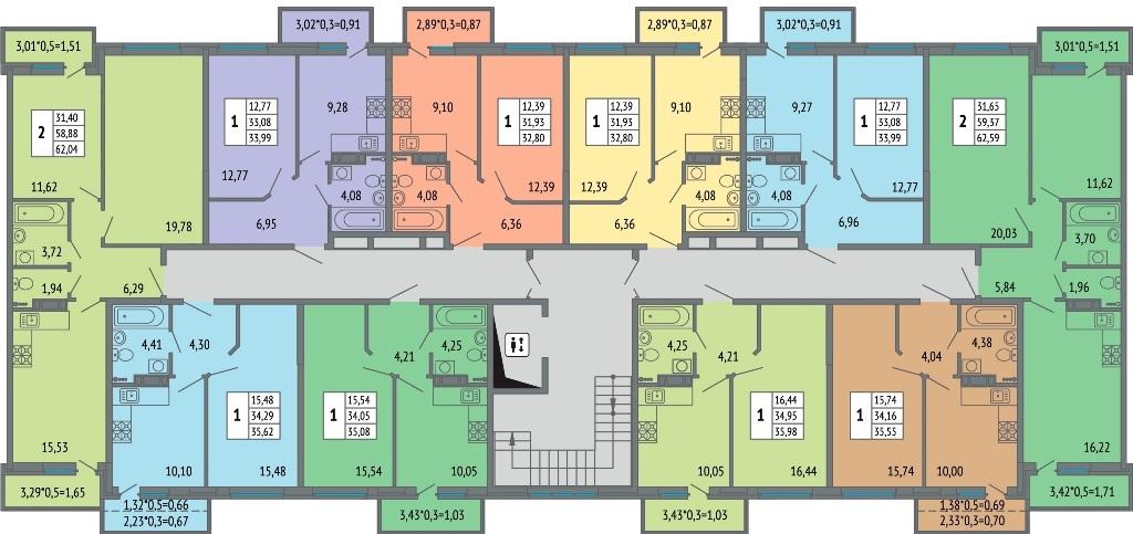 Планировки квартир ЖК Светлоград от застройщика2