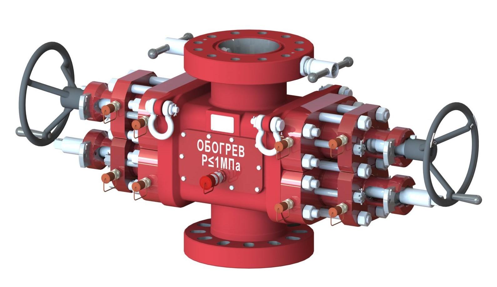 Превентор плашечный сдвоенный гидравлический ППСГ-2ФТ-160(156,152)х21