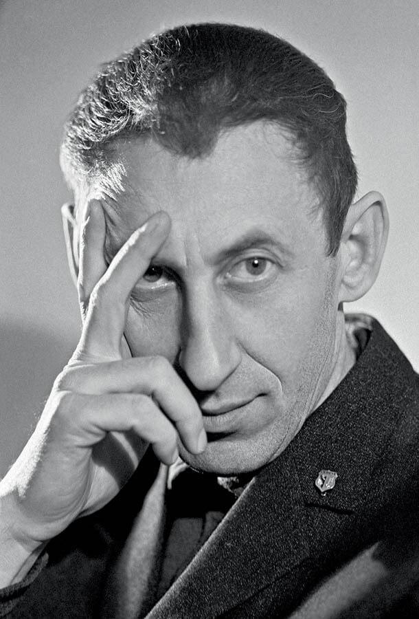 Владимир Басов на съемках «Метели»