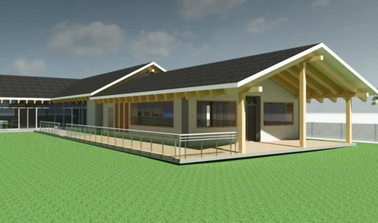 Проект жилого загородного дома и беседки (3D вид), Московская область, сельское поселение Соколовское