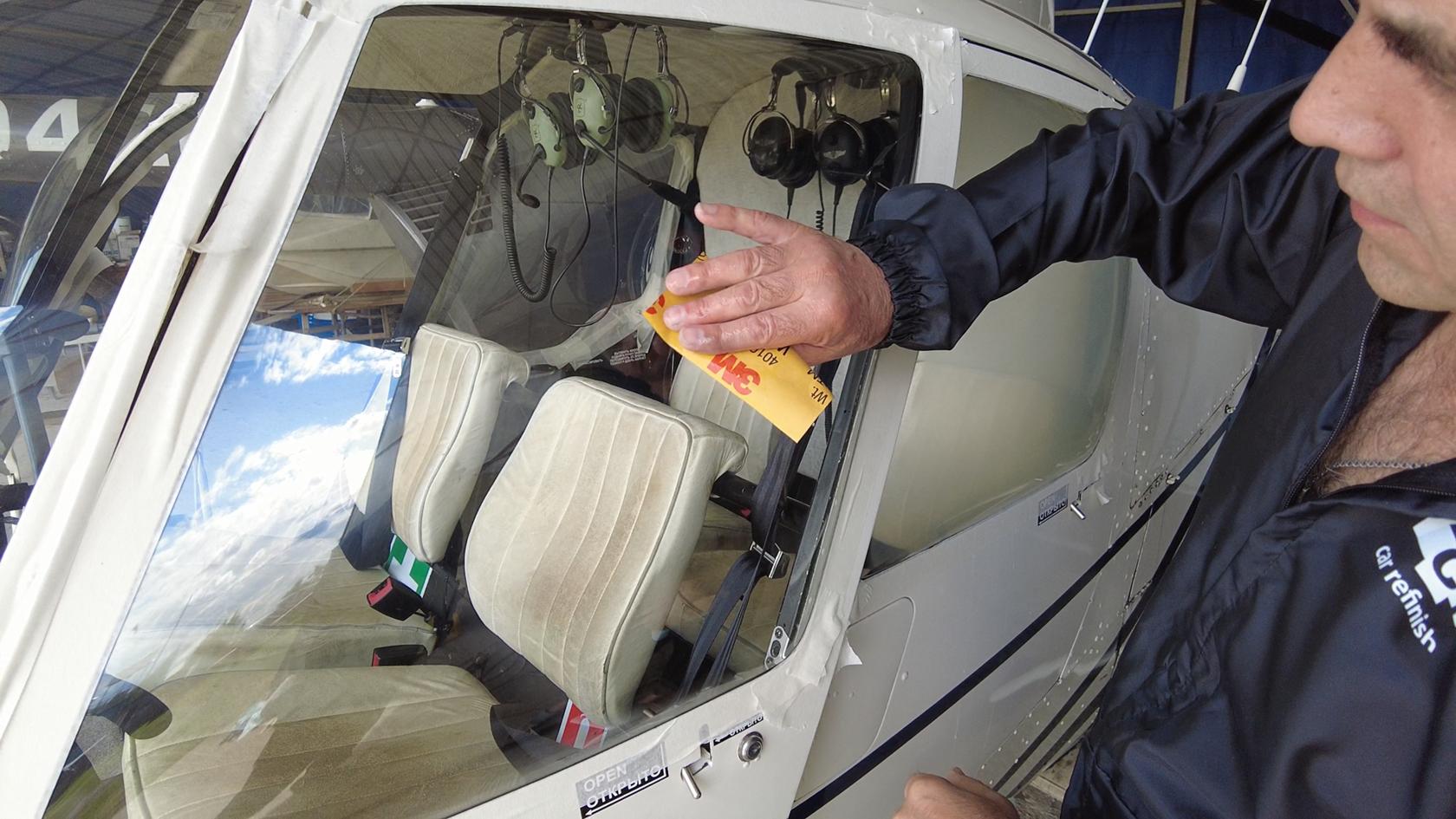 Полировка вертолета Robinson R44