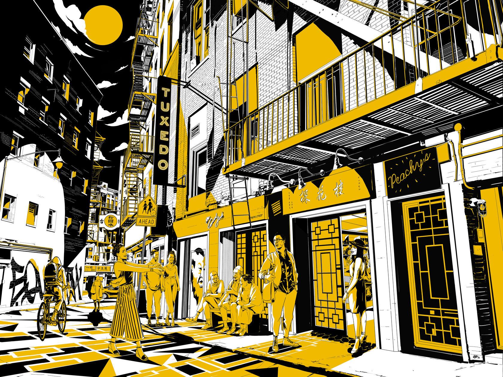 Doyers Street scene animation