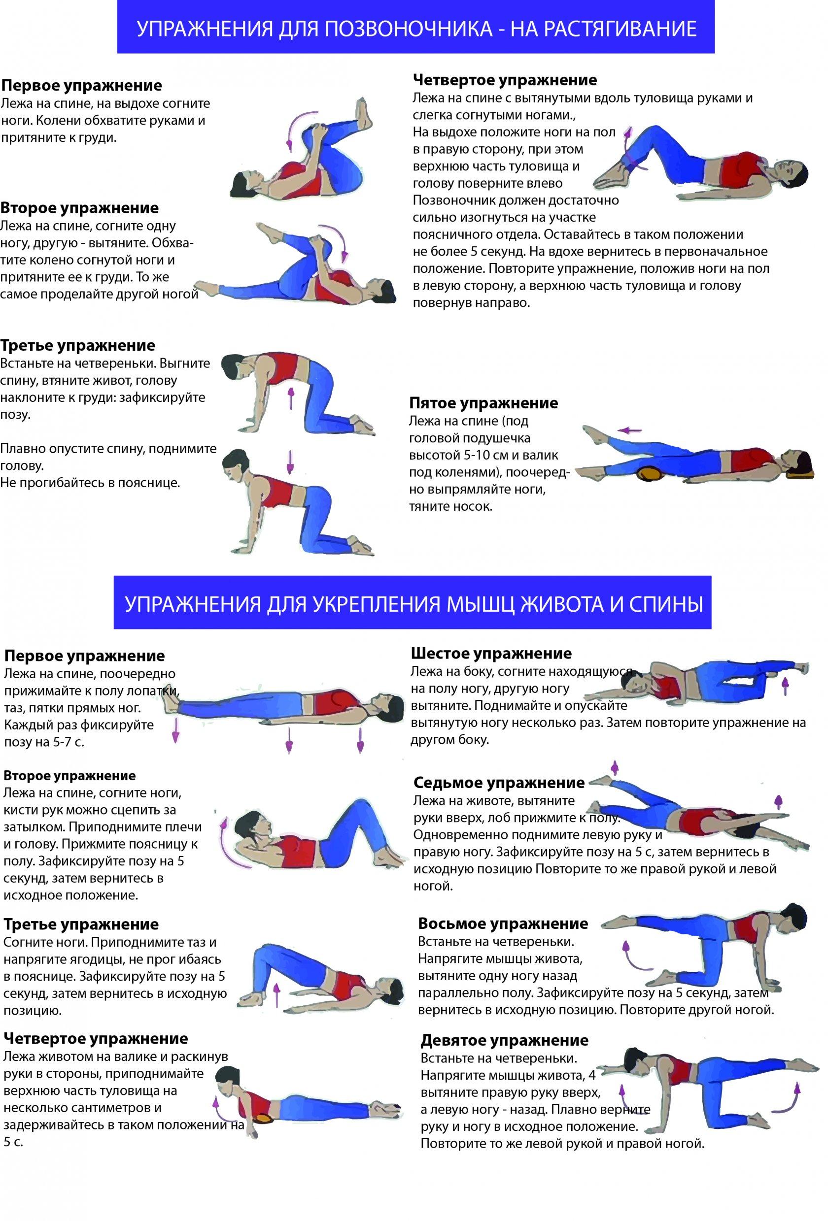 упражнения для укрепление мышц в пояснице должна