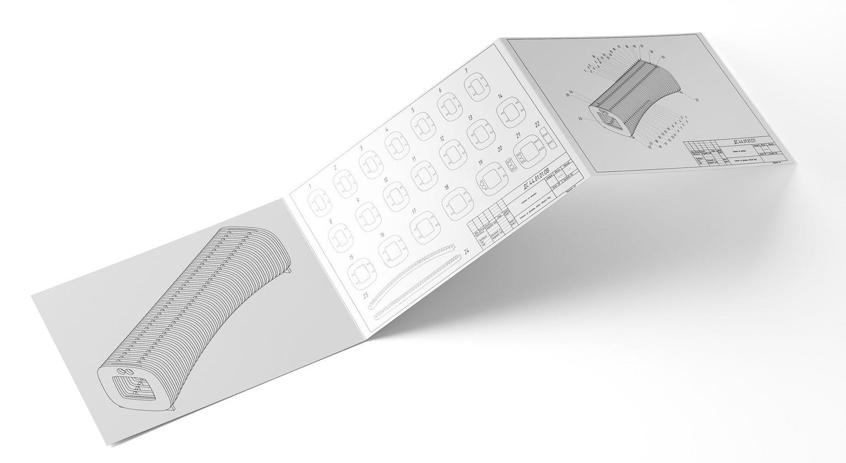 чертеж скамейка параметрический дизайн