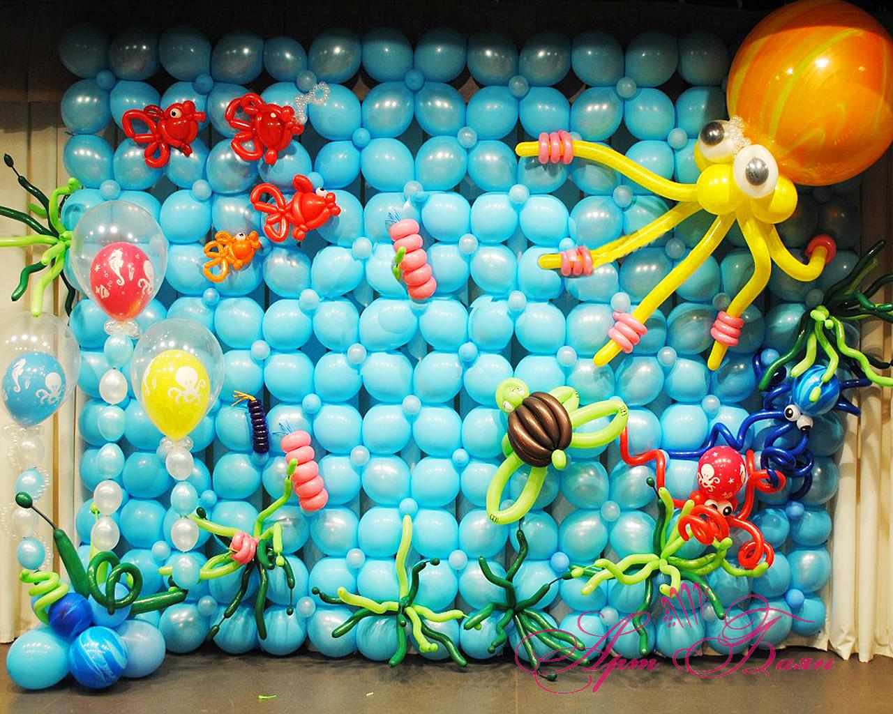 сообразительной украшение шарами своими руками с картинками даже