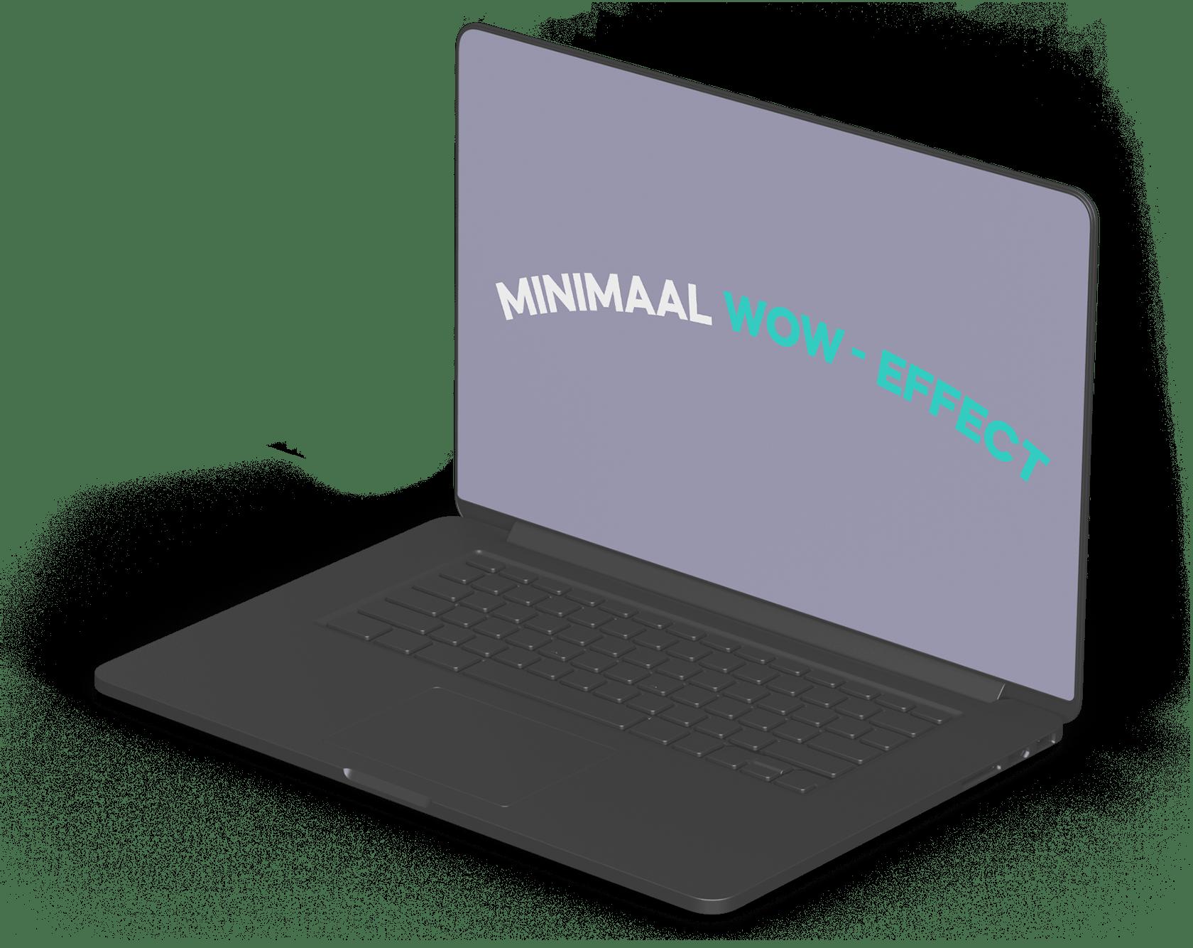 Laptop met minimaal wow-effect
