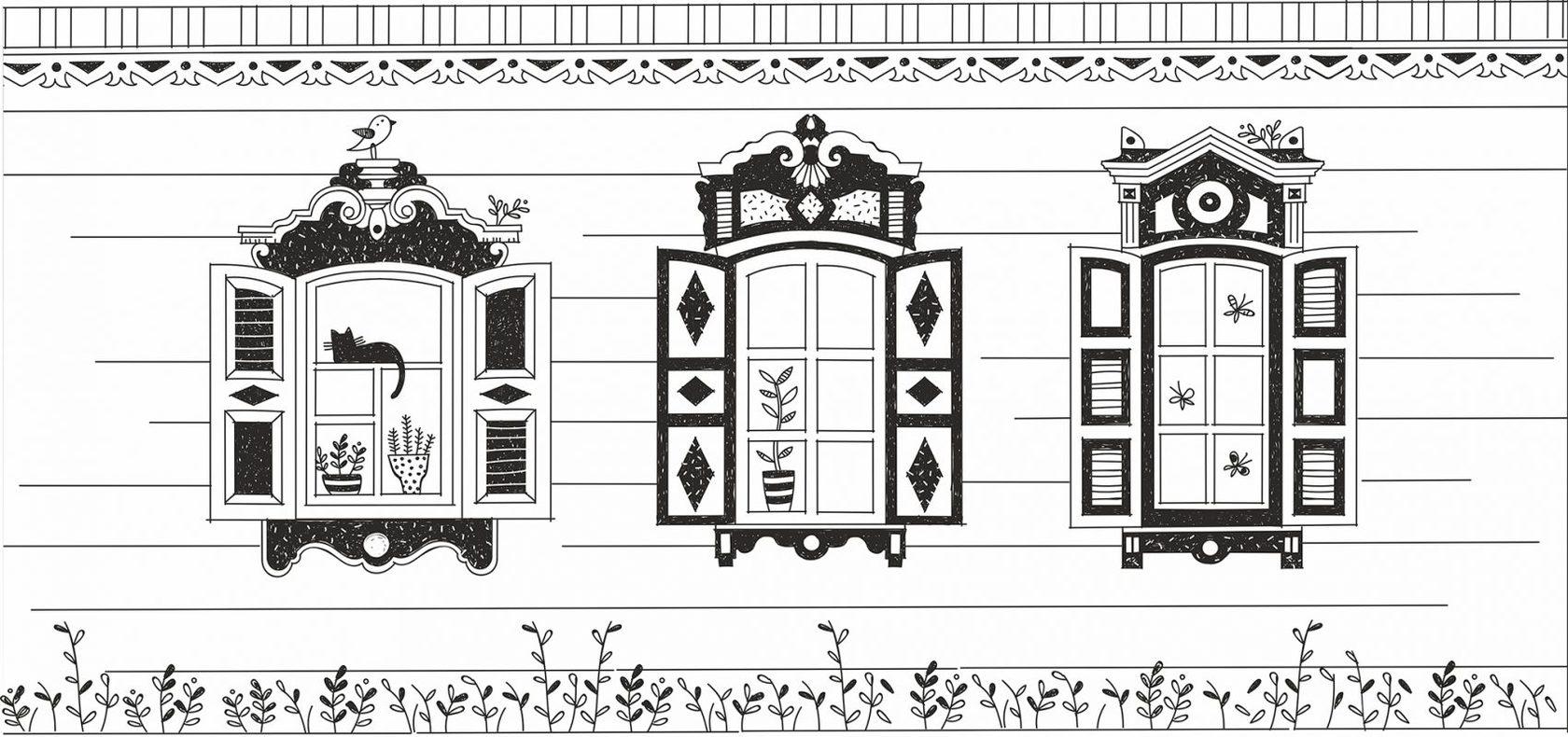 реактивам картинки украшение на окно домика из бумаги ставни длинными