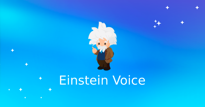 Salesforce created integrations for Einstein Voice with