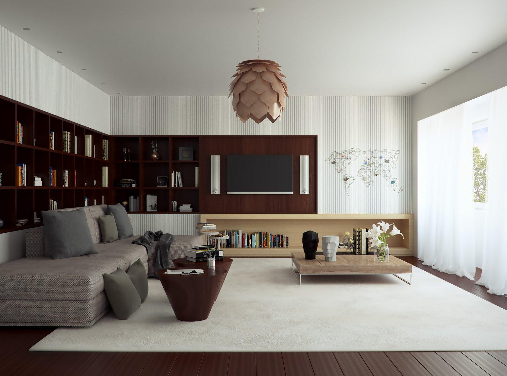 Благородный и стильный интерьер квартиры