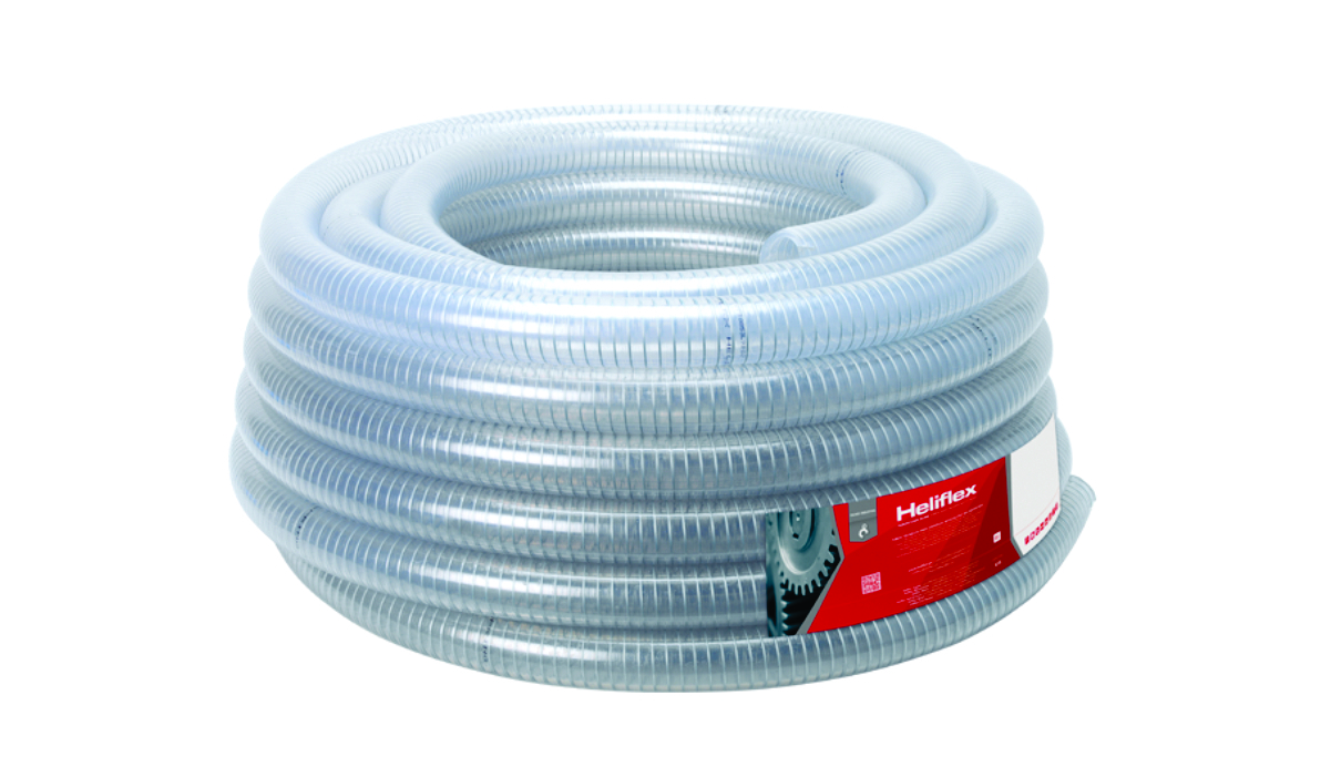 Furtun absorbtie cu spirala galvanizata pentru apa ,lapte si ulei uz alimentar helispring