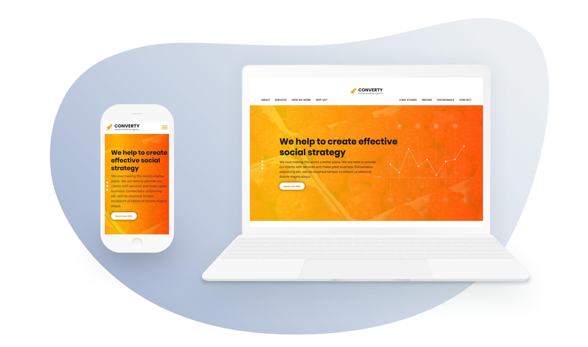 Converty — SEO/Marketing Agency HTML Template