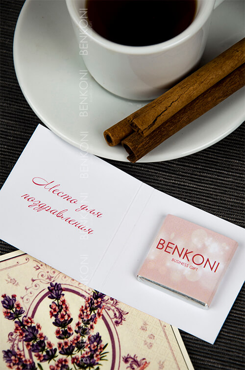 Мини-открытка с шоколадом SMILE