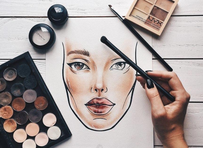 хочу научиться макияжу в картинках телефон