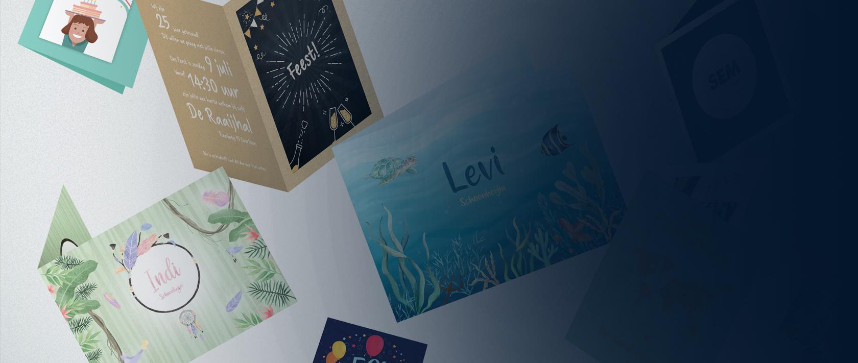 Print project Geboortekaartjes & Uitnodigingen