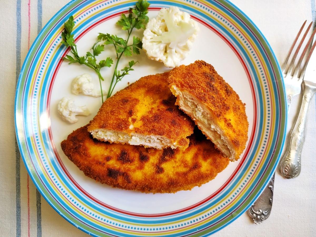 Шницели (куриные) с начинкой из цветной капусты. Вкусный Израиль.