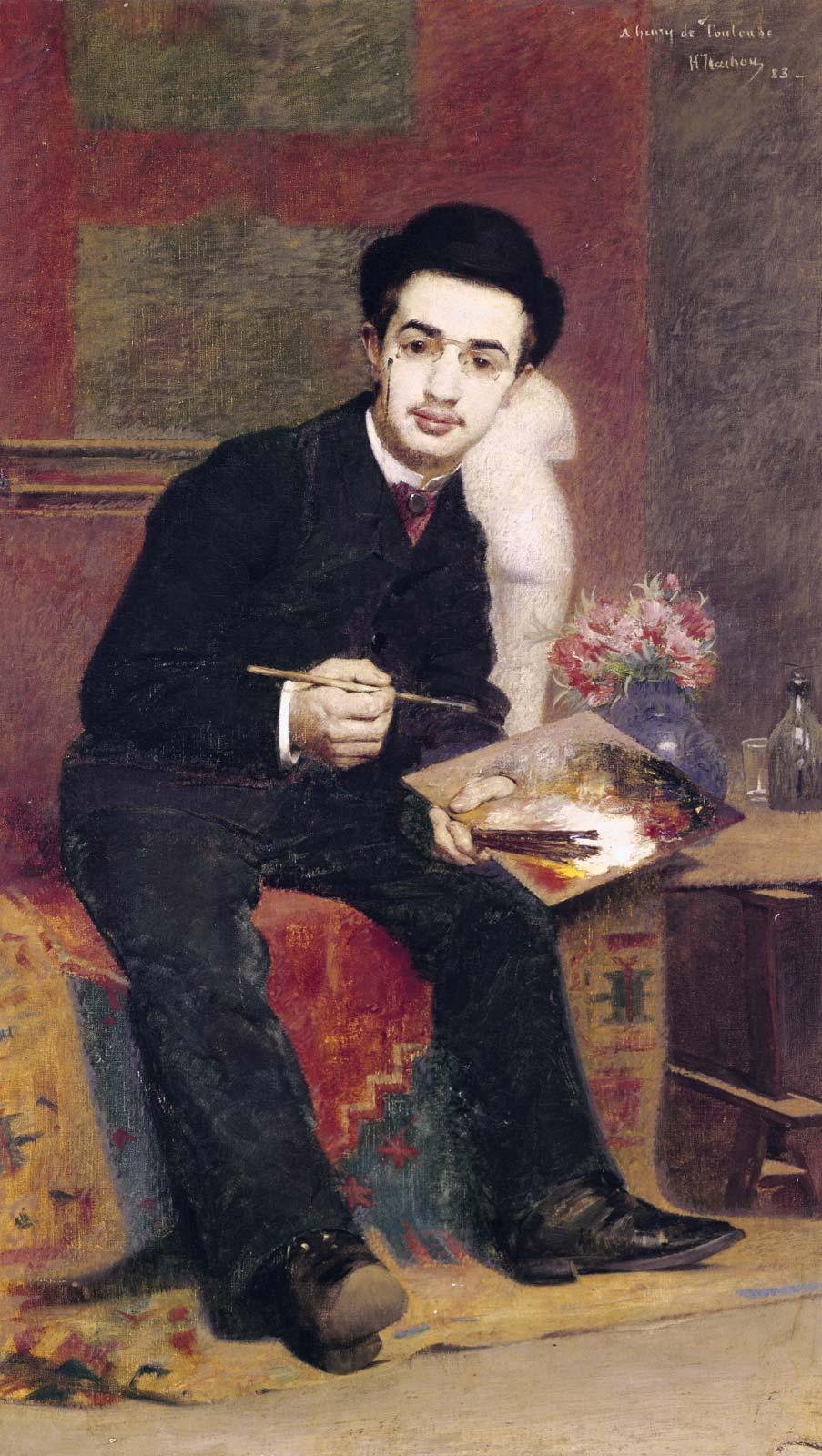 Автопортрет Анри Тулуз-Лотрека, 20 лет, 1884 год