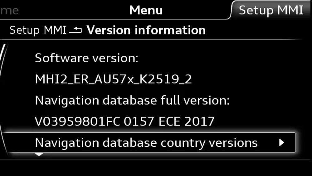audi, mib, mib2, system, radio, head, unit, screen, lcd, menu, software, version, update, how to, install