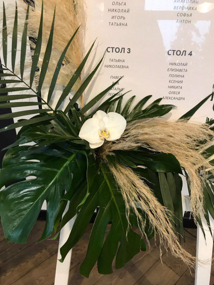 Оформление свадьбы в тропическом стиле. Фото 2
