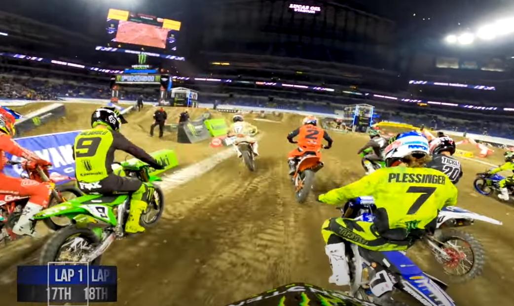 GoPro: Лучшие моменты финала в Индианаполисе 1 с камеры на шлеме Сиансируло и Стюарта
