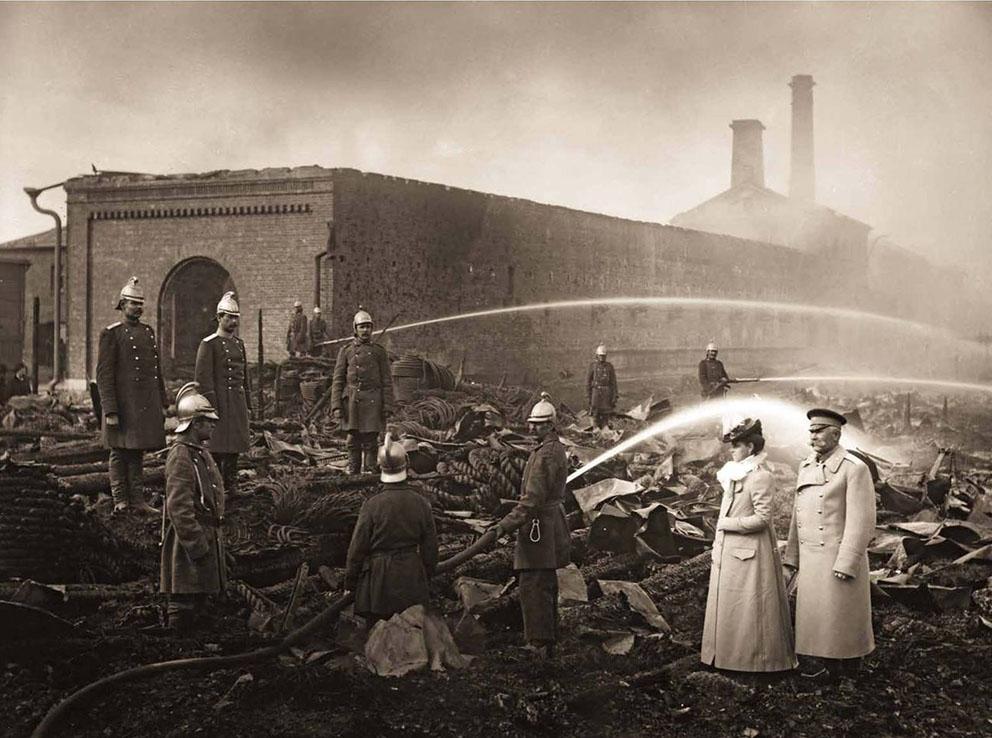 Пожар на Канатной фабрике Гота. 1900 год.